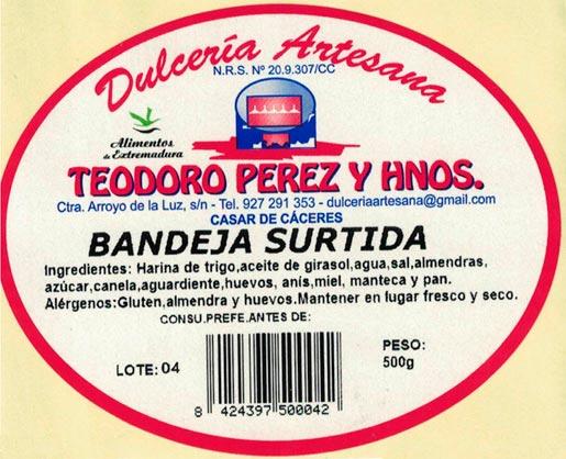 Bandeja Surtida de dulcería artesana en Cáceres